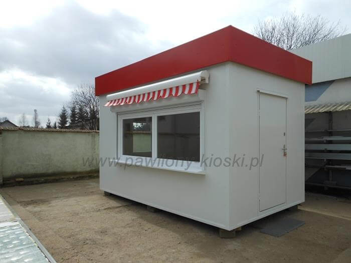 biały kiosk gastronomiczny